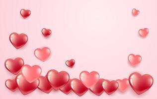 bannière de la Saint-Valentin en forme de coeur vecteur