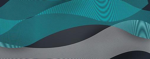 Abstrait de courbe d'onde de ligne moderne 3d vecteur