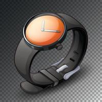 montre noire isolée vecteur