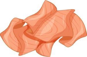 saumon fumé isolé sur fond blanc vecteur