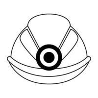 casque de travailleur avec symbole lumineux en noir et blanc