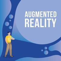 homme utilisant la réalité augmentée sur la smartwatch vecteur