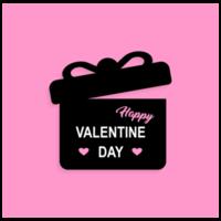 carte de voeux joyeux saint valentin vecteur