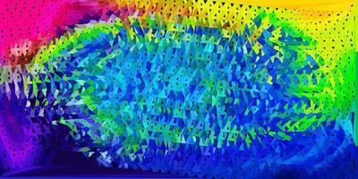 fond de mosaïque triangle vecteur multicolore clair.