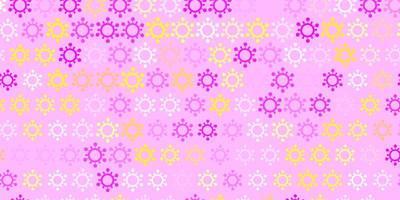 texture de vecteur rose clair, jaune avec des symboles de la maladie.