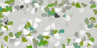 toile de fond de vecteur gris clair avec des formes chaotiques.