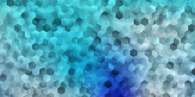 modèle vectoriel bleu clair dans un style hexagonal.