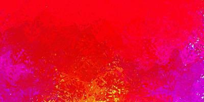 toile de fond de vecteur rose et jaune foncé avec des triangles, des lignes.