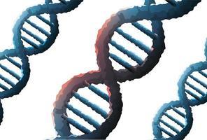 icône de structure génétique de molécules dadn vecteur
