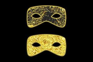 masques de mascarade d'or