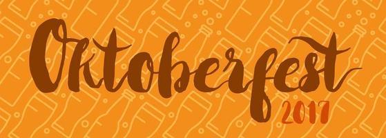 insigne de lettrage oktoberfest vecteur