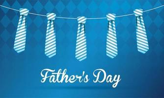 cravates suspendues de conception de vecteur de fête des pères