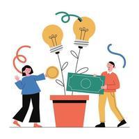 planification financière, investissement. vecteur