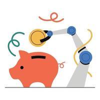 planification financière, épargne, épargne automatique, investissement. vecteur