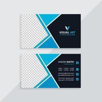 carte de visite bleue élégante vecteur