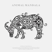mandala de buffle. éléments décoratifs vintage. motif oriental, illustration vectorielle. vecteur