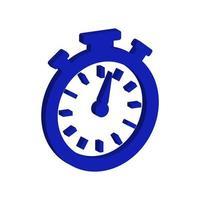 chronomètre isométrique sur fond blanc vecteur