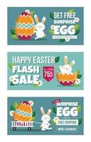 promotion marketing joyeuses pâques vecteur