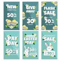bonne promotion de Pâques pour une histoire insta vecteur