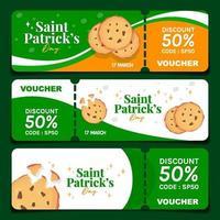 biscuits pour la Saint-Patrick vecteur