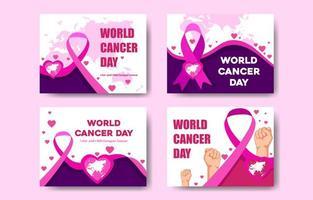 carte de la journée mondiale du cancer vecteur