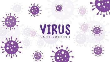 fond de virus violet vecteur