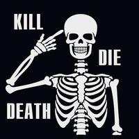 squelette de pochoir noir