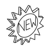 nouvelle icône de produit. style d'icône dessiné à la main ou contour doodle vecteur