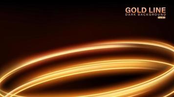 ligne d'or de lumière sur fond sombre