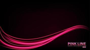 ligne rose de lumière sur fond sombre