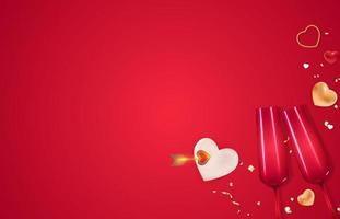 modèle d'espace de copie de carte-cadeau de vacances de la saint-valentin vecteur