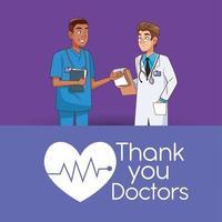 personnages professionnels de médecin et de chirurgien vecteur