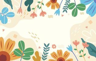 fond floral de printemps coloré vecteur