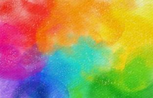 beau fond arc-en-ciel coloré aquarelle vecteur