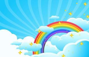 arc en ciel coloré étincelant vecteur