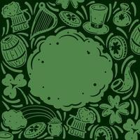 doodle fond de lutin pour la Saint-Patrick vecteur