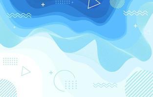fond de vague bleue géométrique vecteur