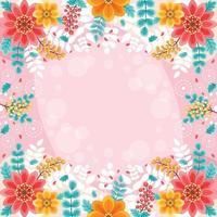 fond floral de printemps coloré et beau vecteur