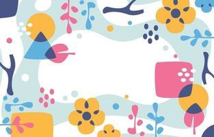 un fond abstrait coloré de beaux-arts vecteur