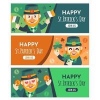 collections de bannières de la Saint-Patrick vecteur