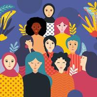 célébration de l'histoire des femmes vecteur