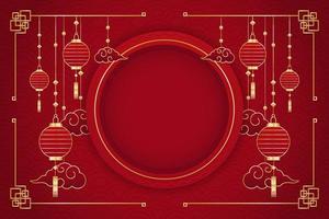 fond rouge du nouvel an chinois vecteur