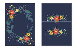fond de fleurs de mariage vecteur