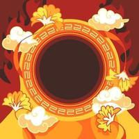 fond de totem chinois vecteur