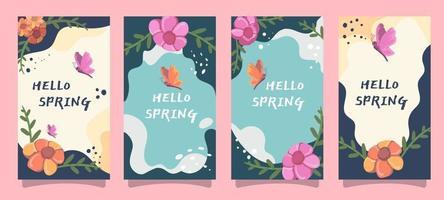 carte de voeux de printemps vecteur
