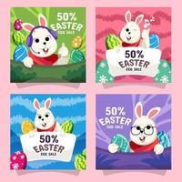 lapin de marketing de Pâques vecteur
