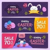 lapin apparaît le jour de Pâques vecteur