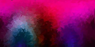 conception de polygone dégradé vecteur multicolore sombre.