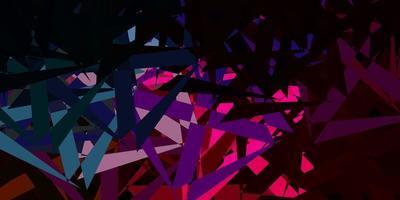 disposition de vecteur multicolore sombre avec des formes triangulaires.