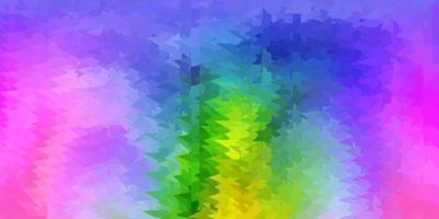Disposition de polygone dégradé vecteur multicolore léger.